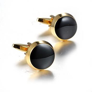 Botões de Punho Roupas de Festa Fashion Broche Jóias Dourado Para Diário Formal