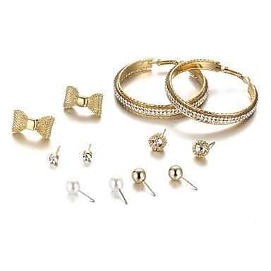 Γυναικεία Κουμπωτά Σκουλαρίκια Κρίκοι Φιογκάκι κυρίες Μποέμ Μοντέρνα Μπόχο Σκουλαρίκια Κοσμήματα Χρυσό Για Δώρο Καθημερινά