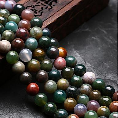 Jóias DIY 48 pçs Contas Ágata Arco-íris Redonda Forma U Bead 0.8 cm faça você mesmo Colar Pulseiras