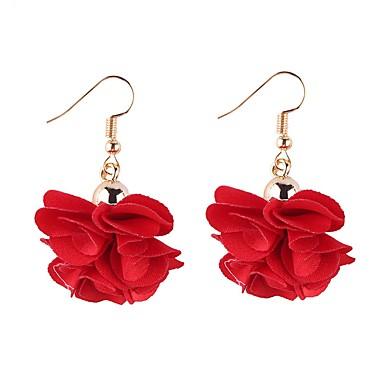 voordelige Dames Sieraden-Dames Druppel oorbellen Bloemen / Botanische Bloem Bloemblad Dames Koreaans oorbellen Sieraden Rood / Roze / Lichtblauw Voor Dagelijks Schoolfeest