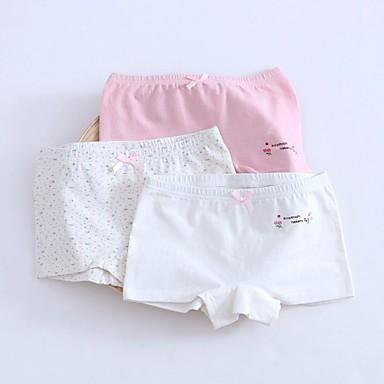 cheap Girls' Underwear & Socks-3 Pieces Kids Girls' Polka Dot Cotton Underwear & Socks White