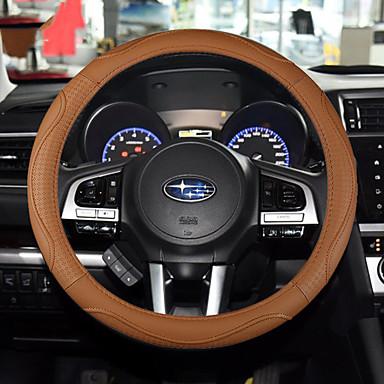 voordelige Auto-interieur accessoires-Auto-stuurhoezen aitoa nahkaa 38cm Beige / Grijs / Koffie Voor Universeel Algemene motoren Alle jaren