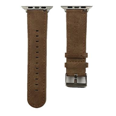 Pulseiras de Relógio para Apple Watch Series 5/4/3/2/1 Apple Fecho Moderno Couro Legitimo Tira de Pulso