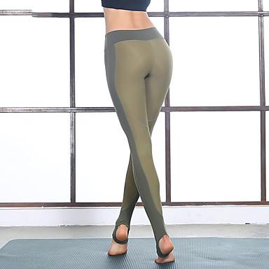 Γυναικεία Leggings de Alergat Βαμβάκι Αθλητισμός Καλσόν Ποδηλασία Κολάν Γιόγκα Fitness Γυμναστήριο προπόνηση Προπόνηση Ασκηση Γρήγορο Στέγνωμα Αντίστροφη καρότσα Φλοράλ Χακί