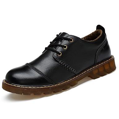 Hombre Zapatos Cuero Otoño / Invierno Confort / Forro de pelusa Oxfords Negro / Marrón 70fRlb