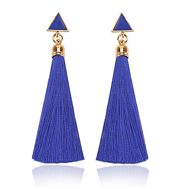 Γυναικεία Μπορντώ Κρεμαστά Σκουλαρίκια Φούντα κυρίες Κλασσικό Θύσανος Μοντέρνα Σκουλαρίκια Κοσμήματα Κόκκινο / Βαθυγάλαζο Για Καθημερινά