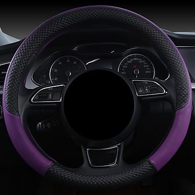 cheap Steering Wheel Covers-Steering Wheel Covers Genuine Leather 38cm Blue / Burgundy / Purple For Hyundai Elantra / IX35 / Mistra All years