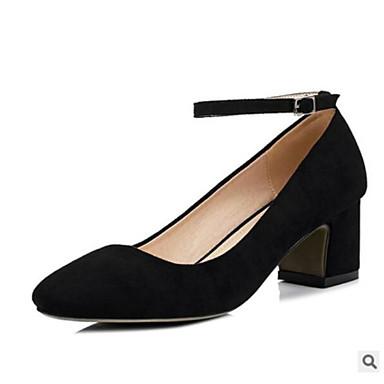 Mujer Zapatos Tejido Verano Confort Zuecos y pantuflas Tacón Cuadrado Punta cerrada Gris / Rosa De Haute Qualité La Vente En Ligne 1uHlAetW9
