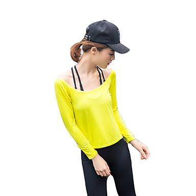 Γυναικεία Activewear Σετ Μονόχρωμο Στολές για Μαζορέτες Τρέξιμο Φυσική Κάτάσταση Μπολύζες Μακρυμάνικο Ρούχα Γυμναστικής Γρήγορο Στέγνωμα Ικανότητα να αναπνέει Σούπερ λεπτό Ανελαστικό
