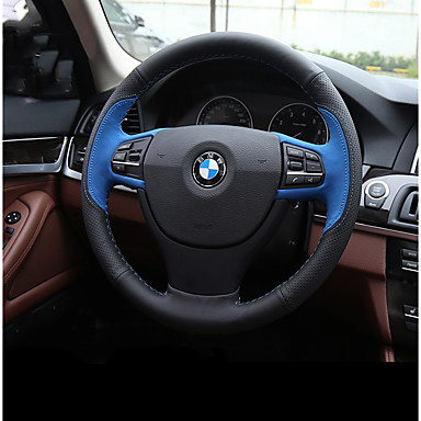cheap Steering Wheel Covers-Steering Wheel Covers Genuine Leather Red / Blue For BMW X3 / X5 / 3 Series All years
