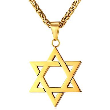 Ανδρικά Κρεμαστά Κολιέ Stea Πεντάγωνο Etnic Σκωτσέζικο Ανοξείδωτο Ατσάλι Μαύρο Ασημί Χρυσό Τριανταφυλλί Κολιέ Κοσμήματα 1 Για Δώρο Καθημερινά