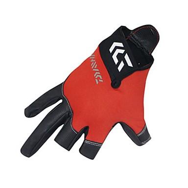 preiswerte Fishing Gloves-Handschuhe fürs Angeln 1 pcs Fingerlos UV-Sonnenschutz Atmungsaktiv Rutschfest PU-Leder Nylonfaser Elasthan Frühjahr, Herbst, Winter, Sommer