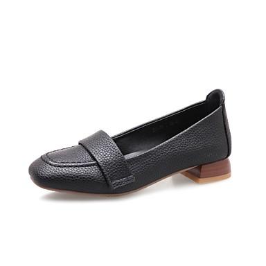 Mujer Zapatos Cuero Nobuck / Materiales Personalizados Primavera / Otoño Confort / Bailarina / Innovador Zapatos de taco bajo y Slip-On c4lTpcmG