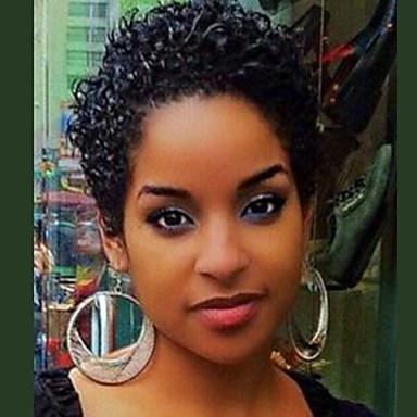 hesapli Bonesiz-Gerçek Saç Peruk Şort Bukle Jerry curl Pixie Cut Kısa Saç Modelleri 2020 Berry Bukle Jheri Kıvırcığı Doğa siyah Moda Makine Yapımı Kadın's Siyah Koyu Bordo Orta Kahverengi 8 inç