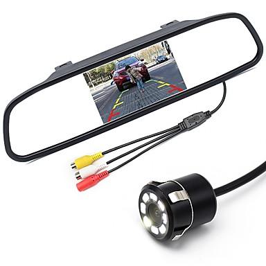 levne Auto Elektronika-ziqiao 5 palcový digitální tft lcd zrcadlový monitor a 8led cdd hd auta zadní kamery