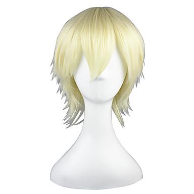 Συνθετικές Περούκες Ίσιο Ίσια Περούκα Ξανθό 13εκ Κίτρινο Συνθετικά μαλλιά Ξανθό