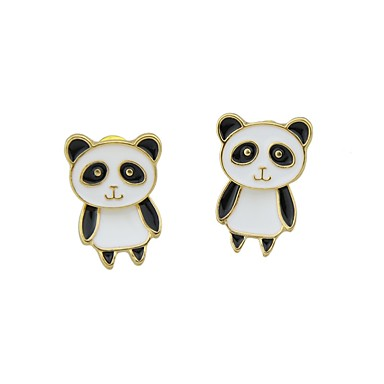 levne Dámské šperky-Dámské Visací náušnice Panda Jednoduchý Základní Náušnice Šperky Bílá Pro Denní Rande