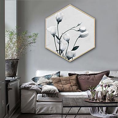 Quadros Emoldurados Conjunto Emoldurado - Paisagem Floral / Botânico Plástico Ilustração Arte de Parede