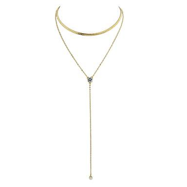 povoljno Modne ogrlice-Žene Y Ogrlica slojeviti Ogrlice Laso dame Osnovni Legura Zlato Pink Ogrlice Jewelry Za Dnevno Nova Godina