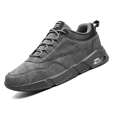 Hombre Zapatos Cuero de Cerdo / PU Verano Confort Zapatillas de Atletismo Running Negro / Gris / Caqui u6Myu3i0lQ