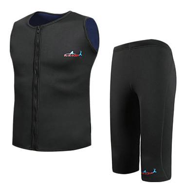 Bluedive สำหรับผู้ชาย ชอร์ตี้ Wetsuits 2mm Neoprene ชุดดำน้ำ รักษาให้อุ่น แห้งเร็ว 2 Pieces - การว่ายน้ำ การดำน้ำ Surfing ลายต่อ / ยืด