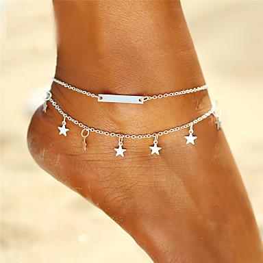 Mulheres Tornezeleira jóias pés Casal (L200 cm x C200 cm) Estrela senhoras Boêmio Fashion Boho Tornezeleira Jóias Dourado / Prata Para Presente Para Noite Bikini