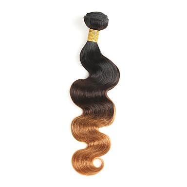 povoljno Ekstenzije od ljudske kose-1 paket Brazilska kosa Tijelo Wave Ljudska kosa Ombre 12-26 inch Isprepliće ljudske kose Gradijent boje Novi Dolazak Proširenja ljudske kose / 8A