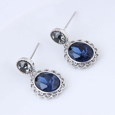 Women's Stud Earrings Fashion European Resin Alloy Oval Jewelry Blue Daily Costume Jewelry