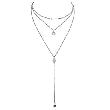 povoljno Modne ogrlice-Žene slojeviti Ogrlice Duga ogrlica Laso dame Osnovni Legura Zlato Pink Ogrlice Jewelry Za Dnevno Nova Godina