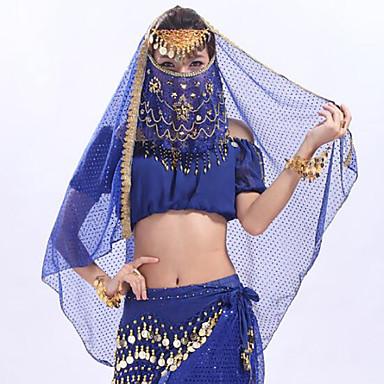 Dança do Ventre Comum Mulheres Treino Tule MiniSpot Véu