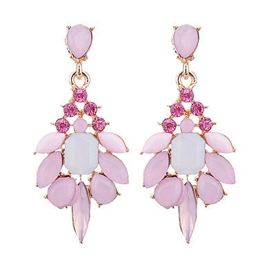 Γυναικεία Κρυστάλλινο Κρεμαστά Σκουλαρίκια Κρεμαστό κυρίες Μοντέρνα Κομψό Οπάλιο Προσομειωμένο διαμάντι Σκουλαρίκια Κοσμήματα Γκρίζο / Ροζ / Πράσινο Ανοικτό Για