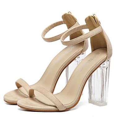 Mujer Zapatos Cuero de Napa Verano Confort Sandalias Tacón Bajo Negro / Almendra Prix De Gros Pas Cher h0e3Jdvu4H