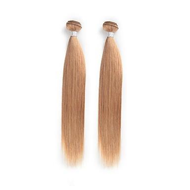 povoljno Ekstenzije od ljudske kose-2 Paketi Brazilska kosa Ravan kroj Klasika Ljudska kosa Ombre Isprepliće ljudske kose Proširenja ljudske kose / 8A