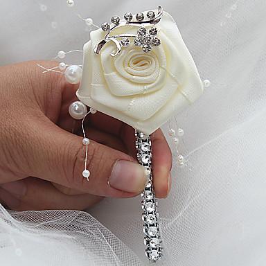Λουλούδια Γάμου Μπουτονιέρες Γάμου / Εκδήλωση / Πάρτι Σατέν 2,76