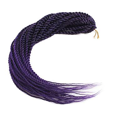 povoljno Ekstenzije za kosu-Kosa koja se plete Senegalski Twist Kukičaste pletenice za kosu Sintentička kosa 30 korijena / pakiranja 1pack Sušilo za pletenice 22inch (Approx.56cm)