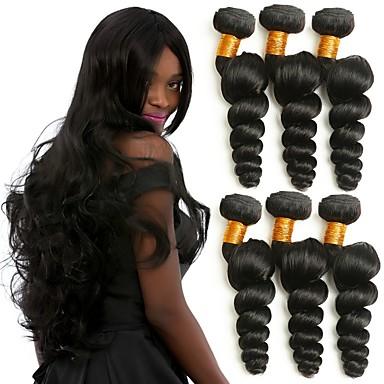 povoljno Ekstenzije od ljudske kose-6 paketića Brazilska kosa Valovita kosa Ljudska kosa Ljudske kose plete Isprepliće ljudske kose Predbožićna Najbolja kvaliteta Youth Proširenja ljudske kose / 8A