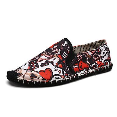 Hombre Zapatos Vaquero / PU Verano Confort Zapatos de taco bajo y Slip-On Negro / Rojo EvP9H4