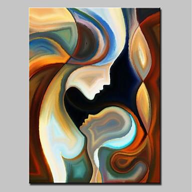 povoljno Ulja na platnu-Hang oslikana uljanim bojama Ručno oslikana - Ljudi Moderna Uključi Unutarnji okvir / Prošireni platno