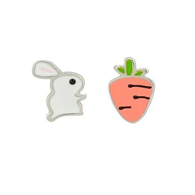 levne Dámské šperky-Dámské Peckové náušnice Neshoda Rabbit Mrkev dámy Náušnice Šperky Bílá Pro Denní Rande