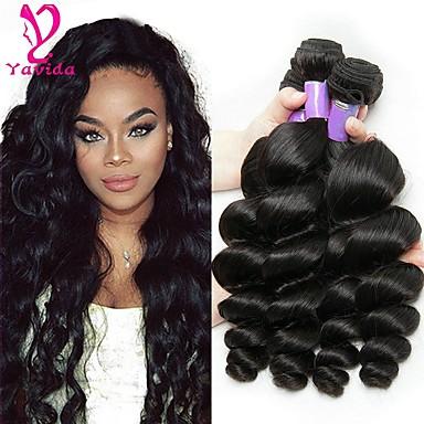 3 δεσμίδες Βραζιλιάνικη Χαλαρό Κυματιστό Φυσικά μαλλιά Υφάνσεις ανθρώπινα μαλλιών Υφάνσεις ανθρώπινα μαλλιών Επεκτάσεις ανθρώπινα μαλλιών / 8A