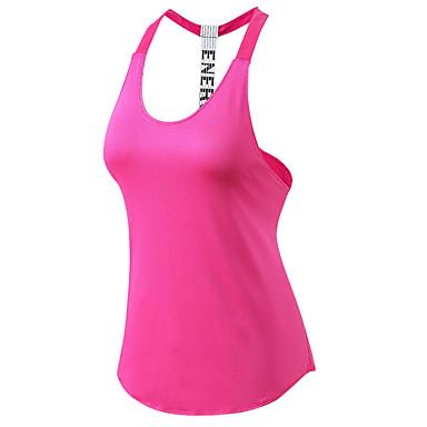Γυναικεία Open Back Γιόγκα Κορυφή Μοντέρνα Zumba Τρέξιμο Fitness Μπολύζες Αμάνικο Ρούχα Γυμναστικής Αναπνέει Γρήγορο Στέγνωμα Ελαστικό / Ελαστίνη