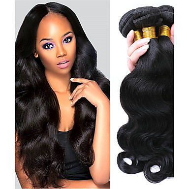 3 δεσμίδες Βραζιλιάνικη Κυματομορφή Σώματος Αγνή Τρίχα Υφάνσεις ανθρώπινα μαλλιών Υφάνσεις ανθρώπινα μαλλιών Επεκτάσεις ανθρώπινα μαλλιών / 10A