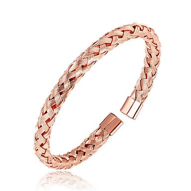 povoljno Modne narukvice-Muškarci Nakit za gležanj S magnetom nehrđajući Narukvica Nakit Crn / Pink / Rose Gold Za Dnevno Izlasci