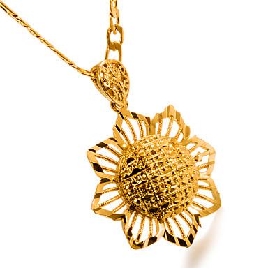 Γυναικεία Κρεμαστά Κολιέ Λουλούδι κυρίες Μοντέρνα Επιχρυσωμένο Κιτρινόχρυσο Μεταλλικό Χρυσό Κολιέ Κοσμήματα 1 Για Γενέθλια Δώρο