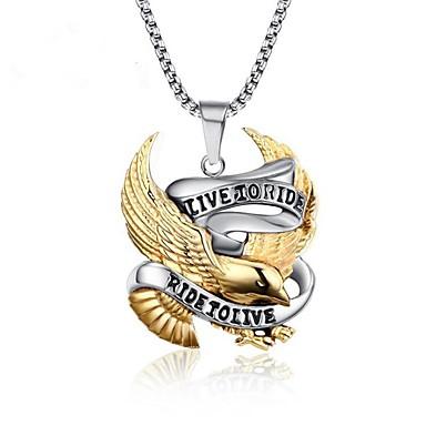 levne Pánské šperky-Pánské Náhrdelníky s přívěšky Ptáček Vintage Punk skotský Nerez Titanová ocel Zlatá Náhrdelníky Šperky 1 Pro Dar Denní