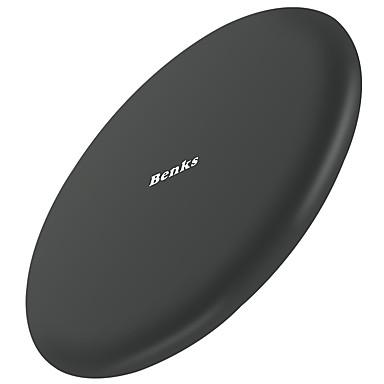 Benks Ασύρματος Φορτιστής Φορτιστής USB Παγκόσμιο Ασύρματος Φορτιστής / Γρήγορη φόρτιση 1 θύρα USB 2 A 9 V για iPhone 8 Plus / iPhone 8 / S8 Plus