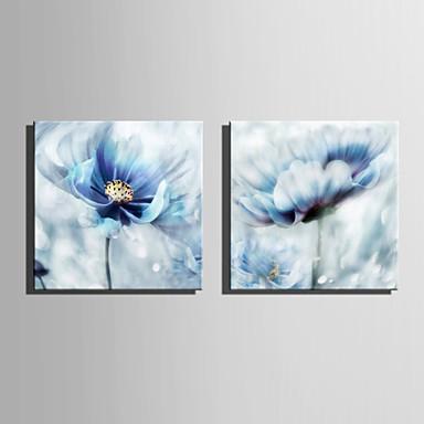 povoljno Ukrašavanje zidova-Stretched Canvas Prints Moderna, Dvije plohe Platno Kvadrat Print Zid dekor Početna Dekoracija