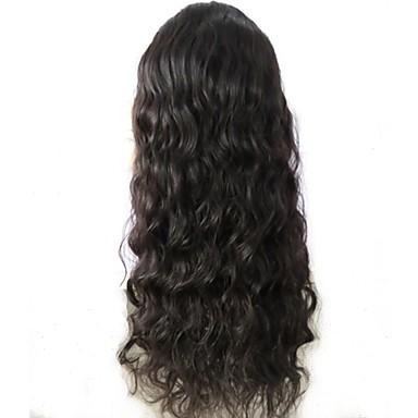 Αγνή Τρίχα Φυσικά μαλλιά Δαντέλα Μπροστά Χωρίς Κόλλα Δαντέλα Μπροστά Περούκα στυλ Βραζιλιάνικη Κυματιστό Κύμα Νερού Περούκα 130% Πυκνότητα μαλλιών με τα μαλλιά μωρών Φυσική γραμμή των μαλλιών 100