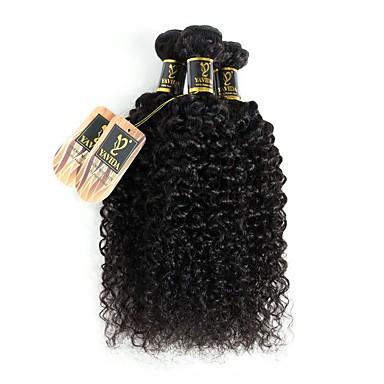 3 δεσμίδες Βραζιλιάνικη Kinky Curly Φυσικά μαλλιά Υφάνσεις ανθρώπινα μαλλιών Υφάνσεις ανθρώπινα μαλλιών Επεκτάσεις ανθρώπινα μαλλιών / 8A / Kinky Σγουρό