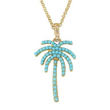 povoljno Modne ogrlice-Žene Ogrlice s privjeskom Kokosova palma Jednostavan Osnovni Imitacija turmalin Legura Zlato Ogrlice Jewelry Za Dnevno Spoj